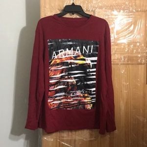 Armani exchange long sleeve shirt